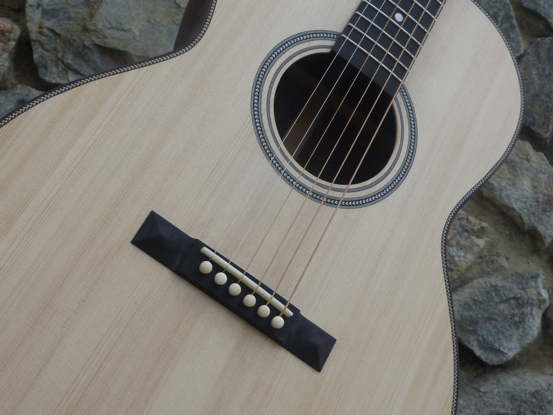 custom left handed acoustic guitar bridge